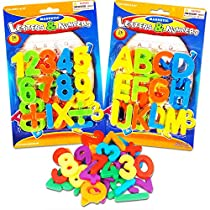 (2 Pack) Magnetic Learning Letters and Numbers, Total 52 Piece Set Model: G16626-set2