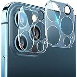 For iPhone13Pro / iPhone13pro max 用 カメラフィルム レンズ保護 フラッシュ穴に黒ゴム 露出オーバー防止 日本旭硝子製 二重強化ガラス 硬度9H キズ防止 高透明度 カメラ全体保護 2枚セット