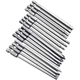 """Yakamoz 16Pcs 4-in-1 Multi Long Magnetic Screwdriver Bit Set with 1/4"""" Hex Shank Drill Screw Driver Bits Power Tools Kit (Hex"""