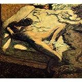 ボナール・「ベッドでまどろむ女あるいはしどけない女」 プリキャンバス複製画・ ギャラリーラップ仕上げ(6号サイズ)