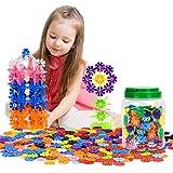 知育玩具 - Zooawa 大人気 認知能力?想像力?創造性向上 雪の花びら 知育玩具 おもちゃ 収納ケース付き 500ピース 多彩
