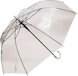 コウモ(Koumo) 長傘 [透明] 滑らん 70cm 耐風 ビニール傘 ジャンプ (Tanpopo) 51049