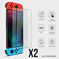 2x Nintendo Switch Genuine 100% TEMPERED GLASS Screen Protector Cover Film Guard Sheet