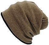 BIGWATCH(ビッグワッチ) 帽子 大きいサイズ ヘンプロール ニットキャップ ブラック/グレージュ HM-02 メンズ