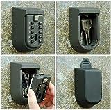 Mercury 暗証番号でカギを管理 ボタン式簡単施錠 解除 防犯 鍵 key 固定型 キーボックス 日本語説明書付属