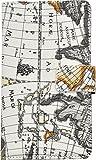 PLATA スマホを貼るだけ! スライド 式 マルチ タイプ ワールド 地図柄 レザー ケース ポーチ 手帳型 カバー AQUOS zeta SH-03G / Xperia Z4 / Xperia Z3 / Xperia Z5 【 02 】Lサイズ QMS-53L-02