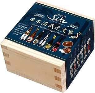 日本酒 蔵元交響 檜一合桝 アソートボンボンチョコレート 6種入り