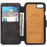 財布型 iphone7 ケース 小銭入れ 小物収納 アイフォン7 ケース カード入れ 札入れ コイン収納 貨幣収納 手帳型 小物用収納ボックス 耐摩擦 耐汚れ 全面保護 プレゼントに最適
