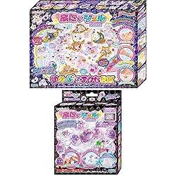 キラデコアート ぷにジェル ゆめぷにアクセDX + ジェル2色 (パープル ライトピンク) セット