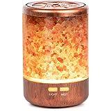 Autumn Rain アロマ加湿器 天然岩塩内蔵 150ml容量 超音波式 空気加湿 7色LEDライト 雰囲気作り 静音 空焚き防止 寝室やオフィスに適合