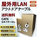 RoHS指令準拠 屋外用LANケーブル カテゴリ6 CAT6 ブラック (100m)