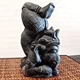 アジアン・バリ雑貨・石彫り・baliwood:シールシャ・アーサナしてるガネーシャの置物!ザ・コンクリート [並行輸入品]