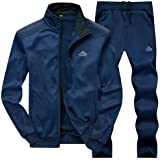 Gopune Men's Athletic Tracksuit Full Zip Warm Jogging Sweat Suits