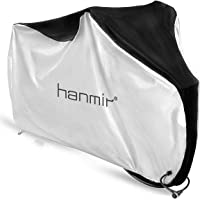 Hanmir 自転車カバー サイクルカバー 厚手 防犯 防風 防塵 耐熱 UVカット 撥水加工 破れにくい 鍵穴盗難防止…