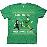 Ripple Junction Elf Adult Unisex Say Elf One More Time Light Weight 100% Cotton Crew T-Shirt