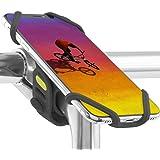 Bone 自転車 スマホ ホルダー 携帯ホルダー ステム用 超軽量 全シリコン製 脱着簡単 脱落防止 4インチから最大6.5インチまでのスマホに対応 iPhone 11 Pro Max XS XR X 8 7 6S Plus Xperia ZX3 G