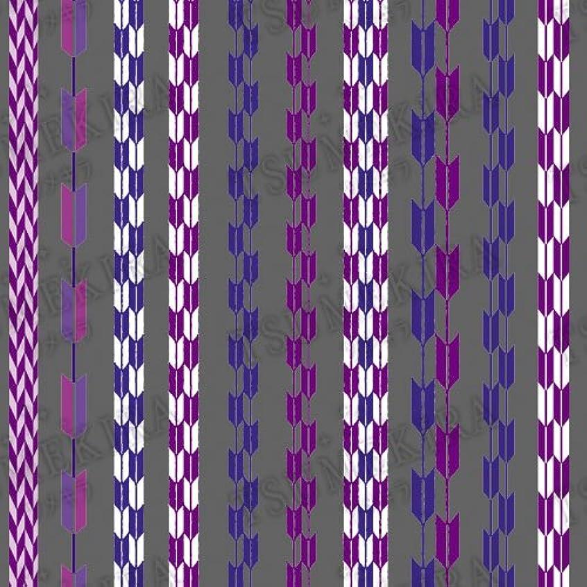 自分のために白い森TSUMEKIRA(ツメキラ) ネイルシール 矢絣 ブルー?パープル NN-TEX-202 1枚