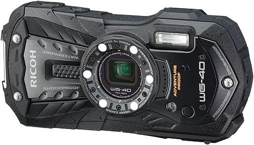 RICOH 防水デジタルカメラ RICOH WG-40 ブラック 防水14m耐ショック1.6m耐寒-10度 RICOH WG-40 BK 04675