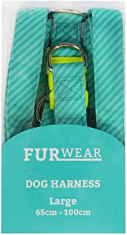 Furwear Fashion Harness for Dogs, Large, Teal