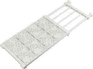 NAKO つっぱり棚 突っ張り棚 強力 滑り止め つっぱり棒 棚 収納 (ホワイト (奥行30cm 幅53~90cm))