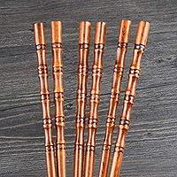 JSDJJH 10 組クリエイティブ天然手作り木製箸ギフト食器箸エコフレンドリー箸木製箸