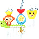 Barwa Bath Toys for Babies, Shower Spray Toys for Toddler Kids Water Shower Bathtub Toy with Stackable and Nesting Cups, for