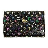 (ルイヴィトン) LOUIS VUITTON 財布 マルチカラー アレクサンドラ 黒 ノワール M60084