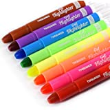 TWOHANDS Bible Gel Highlighter, Dry Highlighter, No Bleed, 8 Assorted Colors, Bible Journaling Supplies, Bible Markers for Ta