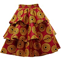 HongyuAmy Women African Print Skirt Ankara Skirts Dashiki Clothing