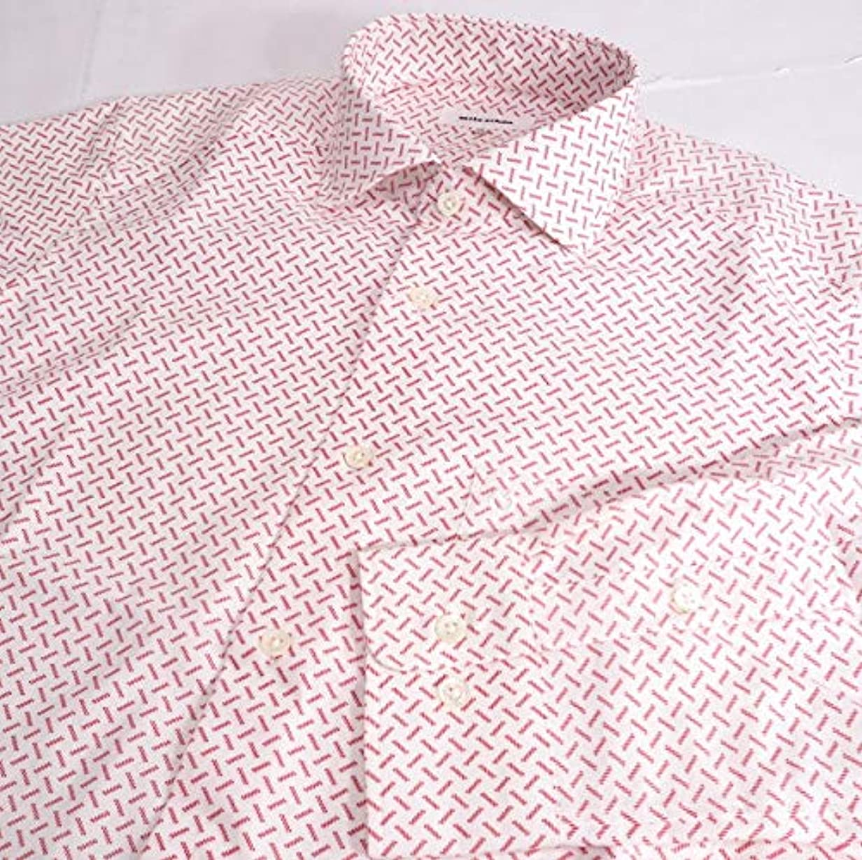 どこにでもグラディスクロール40731 秋冬春 日本製 ワイドカラーシャツ 総柄 ホワイト(白) サイズ 46(M) mila schon ミラショーン 紳士服 メンズ 男性用