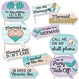 Funny Let 's Be Mermaids – ベビーシャワーまたは誕生日パーティー写真ブース小道具キット – 10 Piece