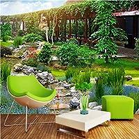 Wxmca カスタム3D壁画壁紙公園3D風景寝室バスルームリビングルームロビーコーヒーハウス壁紙壁画-120X100Cm
