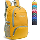 ZOMAKE 30L Lightweight Packable Backpack Water Resistant Hiking Daypack,Small Travel Backpack Foldable Camping Outdoor Bag ye