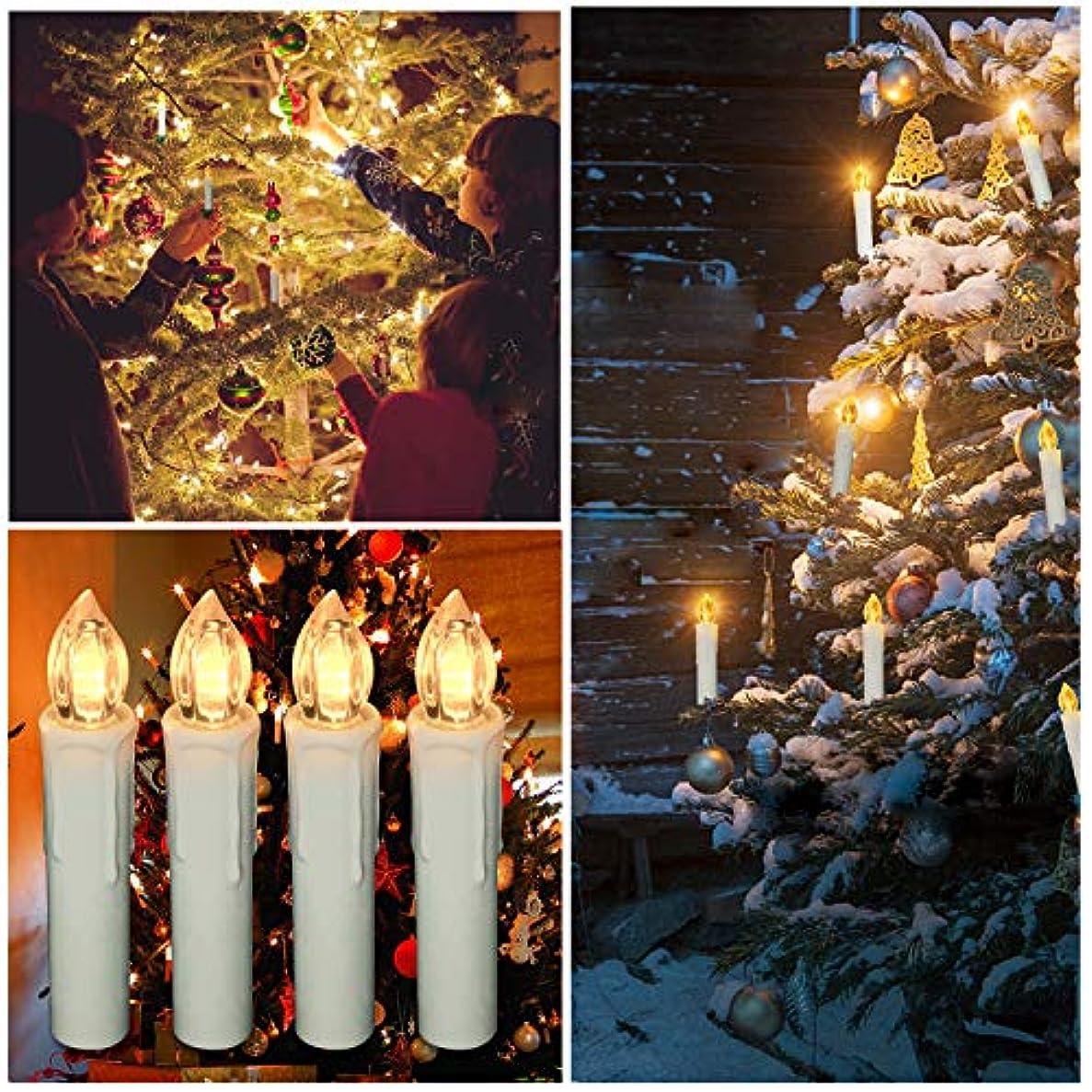 懐疑論概念引き受けるクリスマス LED キャンドルライト ロマンチック 装飾ライト リモコン操作 ホーム飾り/庭/結婚式/誕生日/パーティー 安心安全 無煙 電池式 マルチカラー 10個セット