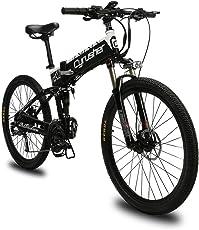 Extrbici XF770 折りたたみ自転車 26インチ リチウム×バッテリー シマノ27段変速 フルサスペンション ディスクブレーキ 特製タイヤ 電機250/500w スポークリム 防犯登録可能