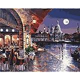 Diyの油絵子供のためのデジタル油絵大人初心者16x20インチ、ショアバー--クリスマスの装飾ホームインテリアギフト (フレームなし)