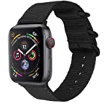 METEQI Bands Woven Nylon Sport Loop Wrist Strap for 44mm 42mm 40mm 38mm Compatible with iwatch Series 6/5/4/3/2/1 (38mm/40mm,