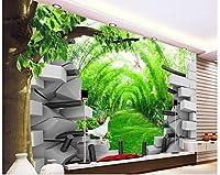Wapel 3 d のカスタマイズされた壁紙の壁画 3 d 壁紙竹林トンネル壁のリビング 3 次元の壁の壁紙の写真の壁紙 絹の布 180x130CM