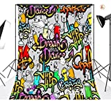 LB 5?X 7ftグラフィティストリートアートビニール写真バックドロップBreak ShowダンスヒップホップCrazy写真背景カスタマイズStudio小道具cl652