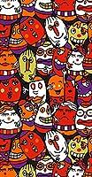 ポスター ウォールステッカー 長方形 シール式ステッカー 飾り 90×47cm Lsize 壁 インテリア おしゃれ 剥がせる wall sticker poster ユニーク タマゴ お化け 001249