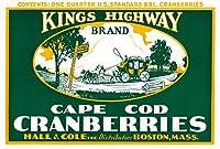 ボストン、マサチューセッツ州–Kings Highwayブランドクランベリーラベル 24 x 36 Giclee Print LANT-20316-24x36