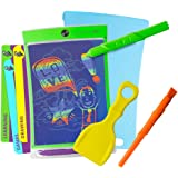Boogie Board Magic Sketch Color LCD Writing Tablet + 4 Different Stylus and 9 Double-Sided Stencils for Drawing, Writing, and