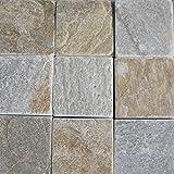 [敷石 鉄平石 方形 石材]とっても綺麗なイエロー鉄平石st12