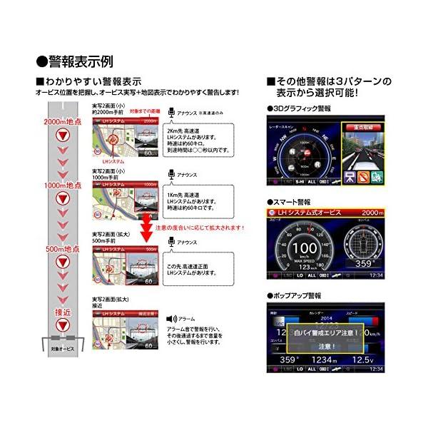 コムテック レーダー探知機 3.2インチ液晶・...の紹介画像8
