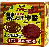 コダマ パワー森林香 獣よけ線香 10巻 携帯防虫器セット トウガラシ成分配合