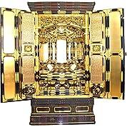 仏壇 金仏壇 「三河型 段下 御坊屋根 」 30号 仏具Bセット付 【金箔 仏壇 床置型 大型 塗り仏壇 四尺以上の仏間用 】