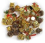 R-STYLE 派手派手に装飾 クリスマス ツリー 飾り ゴールド オーナメント セット (32個セットA)