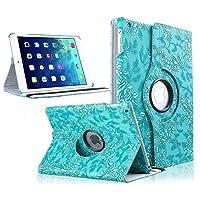 (タブパウ) TabPow iPad Air 2ケース 360度フリップ式スマートケース スマートカバーポリウレタンレザーフリップケース マグネット開閉 スタンド機能 自動スリープ/スリープ解除 対応機種:Apple iPad Air 2/ iPad第6世代 EHM.US778-F