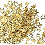装飾紙吹雪 星型 クラフトペーパー 結婚式/パーティー/新年/クリスマス 飾り物 金/銀色 約500pcs