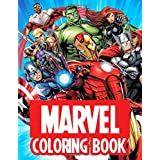 Marvel Coloring Book: Jumbo Coloring Books For Kids With Exclusive Marvel Superheroes And Villains Illustrations Such As Iron
